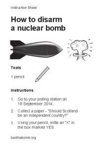 Disarm a nuke